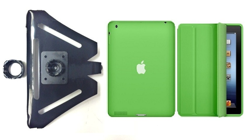 SlipGrip 22MM Ball Holder For Apple iPad 2 & 3 & 4 Generation Tablet Using Genuine Apple Smart Case