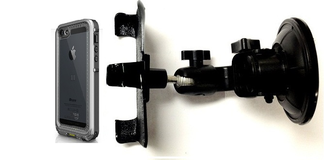 SlipGrip Car Holder For Apple iPhone 5 5S Using LifeProof Nuud Case DT