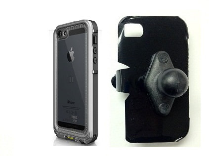SlipGrip RAM Holder For Apple iPhone 5 5S Using LifeProof Nuud Case