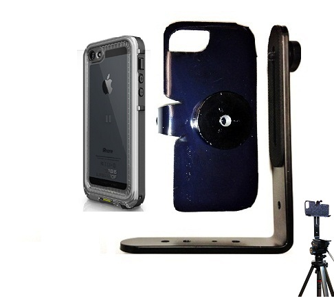 SlipGrip Tripod Mount For Apple iPhone 5 5S Using LifeProof Nuud Case
