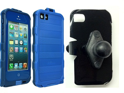 SlipGrip RAM Holder For Apple iPhone 5 5S Using bFree Aqua Waterproof Proof Case
