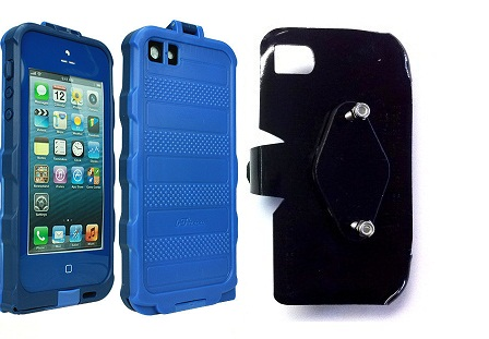 SlipGrip RAM-HOL Holder For Apple iPhone 5 5S Using bFree Aqua Waterproof Proof Case