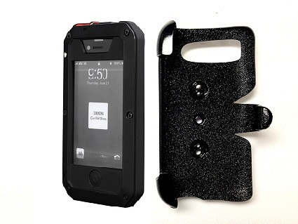 SlipGrip PRO Mounts Holder For Apple iPhone 5 5S Using Aluminum Metal Water Shock Dust Proof Case