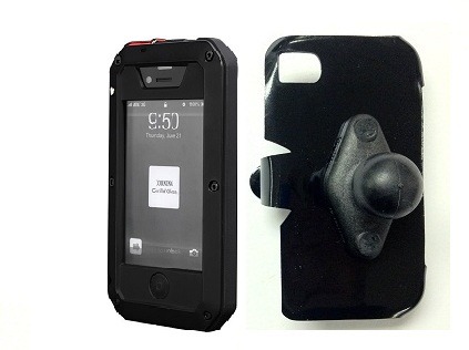 SlipGrip RAM Holder For Apple iPhone 5 5S Using Aluminum Metal Water Shock Dust Proof Case