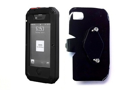 SlipGrip RAM-HOL Holder For Apple iPhone 5 5S Using Aluminum Metal Water Shock Dust Proof Case