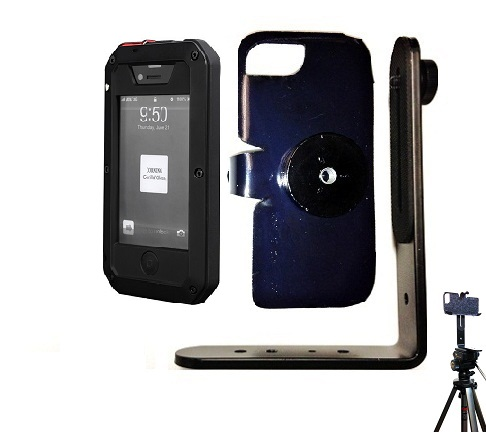 SlipGrip Tripod Mount For Apple iPhone 5 5S Using Aluminum Metal Water Shock Dust Proof Case