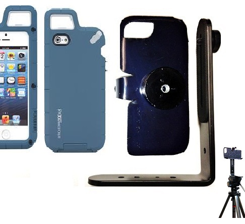 SlipGrip Tripod Mount For Apple iPhone 5 & 5S LTE eration Using PureGear PX360 Protector Case