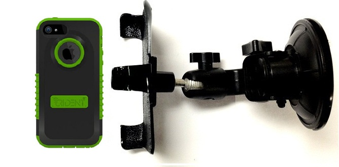 SlipGrip Car Holder For Apple iPhone 5 & 5S Using Trident Cyclops Case DT