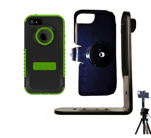 SlipGrip Tripod Mount For Apple iPhone 5 & 5S Using Trident Cyclops Case