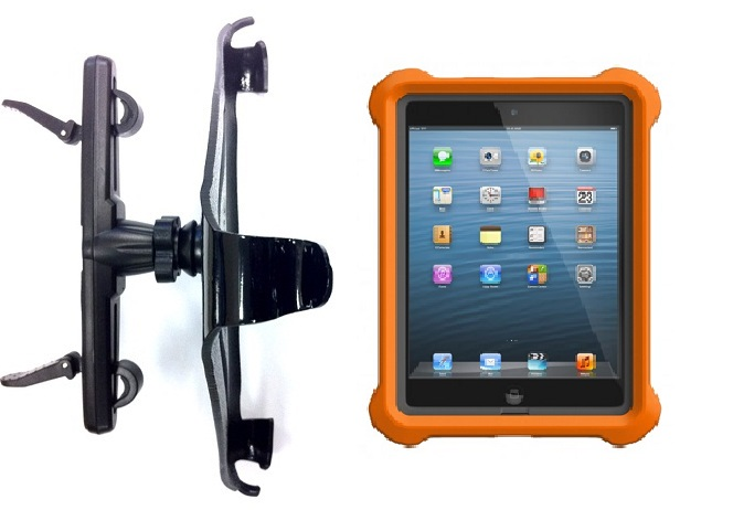 SlipGrip HeadRest Bike Holder For Apple iPad Mini Tablet Using Lifeproof LifeJacket Case