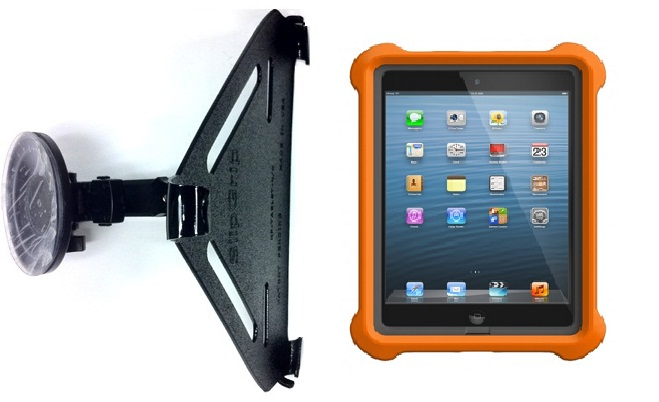 SlipGrip Car Holder For Apple iPad Mini Tablet Using Lifeproof LifeJacket Case HV