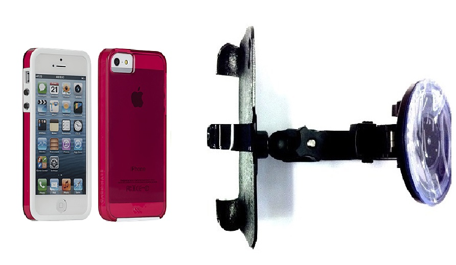SlipGrip Car Holder For Apple iPhone 5 & 5S Using Case-Mate Naked Tough Case HV