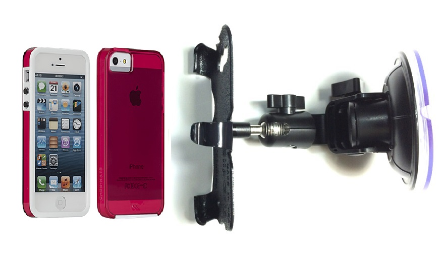 SlipGrip Car Holder For Apple iPhone 5 & 5S Using Case-Mate Naked Tough Case DT