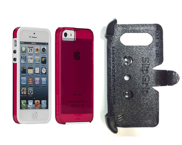 SlipGrip PRO Mounts Holder For Apple iPhone 5 & 5S Using Case-Mate Naked Tough Case