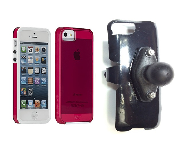 SlipGrip RAM Holder For Apple iPhone 5 & 5S Using Case-Mate Naked Tough Case