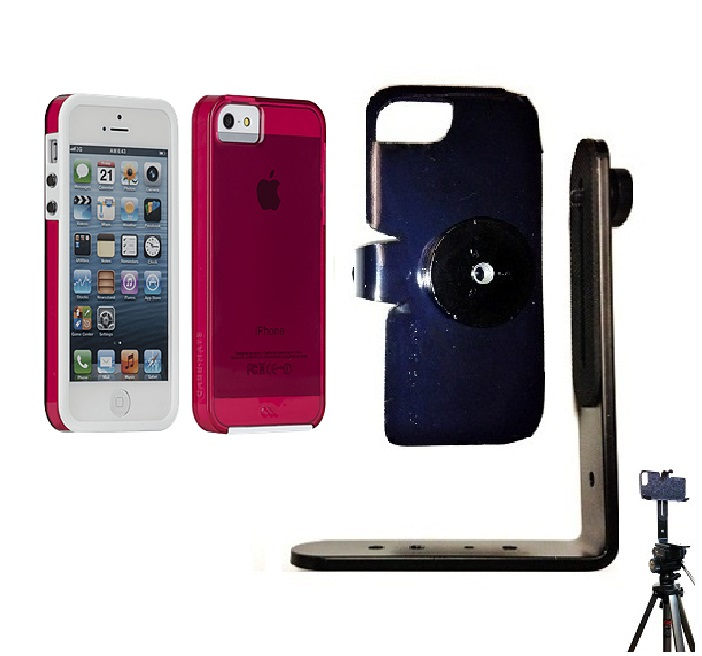 SlipGrip Tripod Mount For Apple iPhone 5 & 5S Using Case-Mate Naked Tough Case