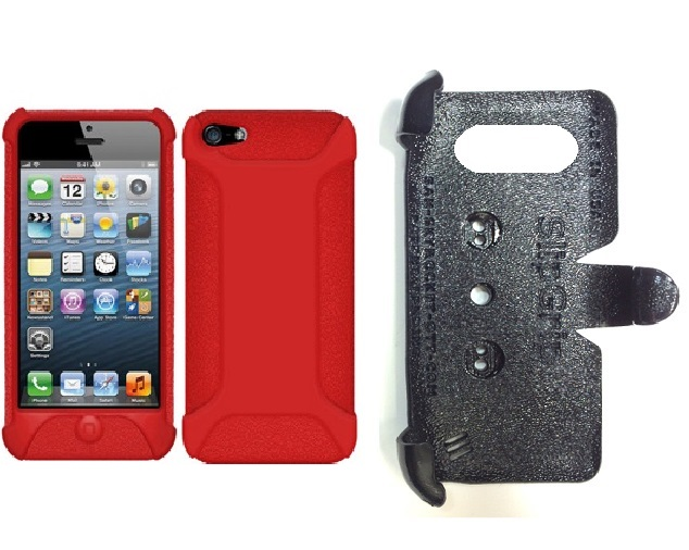 SlipGrip PRO Mounts Holder For Apple iPhone 5 & 5S Using Amzer Silicone Jelly Skin Case
