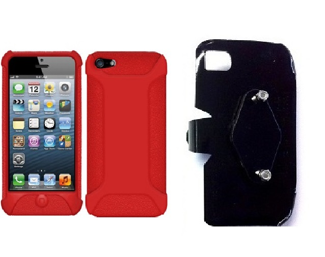 SlipGrip RAM-HOL Holder For Apple iPhone 5 & 5S Using Amzer Silicone Jelly Skin Case