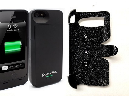 SlipGrip PRO Mounts Holder For Apple iPhone 5 & 5S Using Lenmar Meridian Battery Case