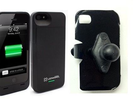 SlipGrip RAM Holder For Apple iPhone 5 & 5S Using Lenmar Meridian Battery Case