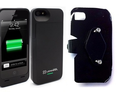 SlipGrip RAM-HOL Holder For Apple iPhone 5 & 5S Using Lenmar Meridian Battery Case