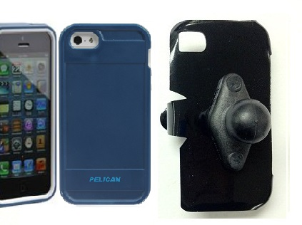 SlipGrip RAM Holder For Apple iPhone 5 & 5S Using Pelican ProGear Protector Case