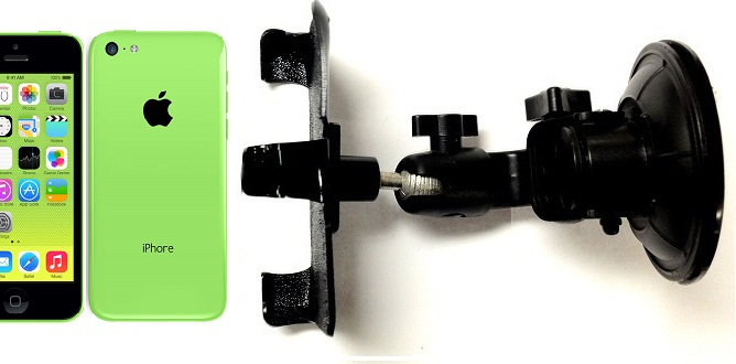 SlipGrip Car Holder For Apple iPhone 5C Using No Case DT