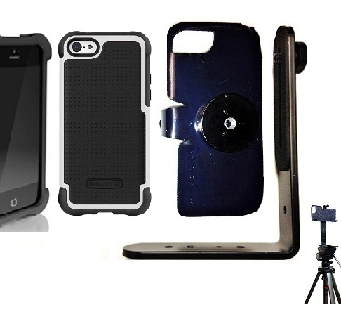 SlipGrip Tripod Mount For Apple iPhone 5C Using Ballistic SG Case