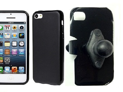 SlipGrip RAM Holder For Apple iPhone 5C Using Hard Rubber Hard Rubber Gel Case