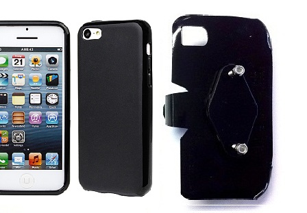 SlipGrip RAM-HOL Holder For Apple iPhone 5C Using Hard Rubber Hard Rubber Gel Case