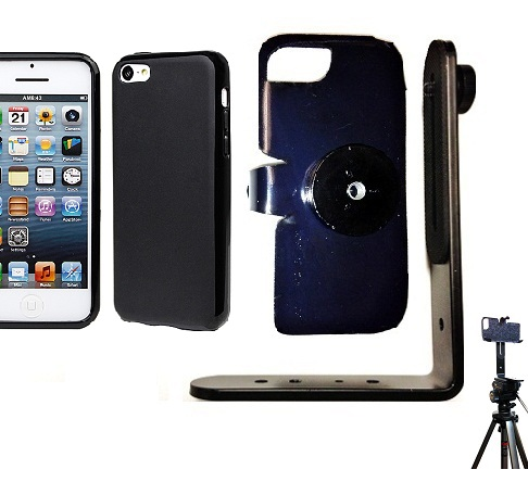 SlipGrip Tripod Mount For Apple iPhone 5C Using Hard Rubber Hard Rubber Gel Case