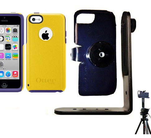 SlipGrip Tripod Mount For Apple iPhone 5C Using Otterbox Commuter Case
