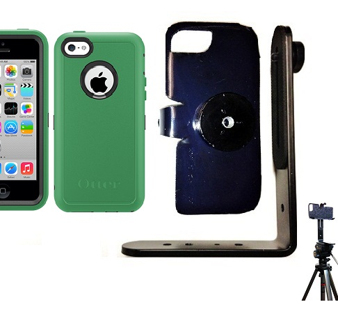 SlipGrip Tripod Mount For Apple iPhone 5C Using Otterbox Defender Case