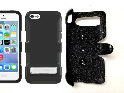 SlipGrip PRO Mounts Holder For Apple iPhone 5C Using Seidio Active Metal KickStand Case