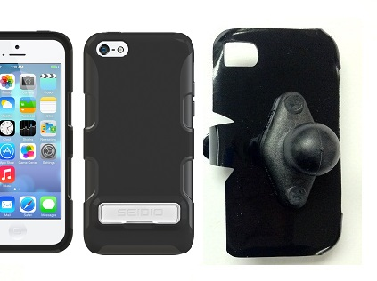 SlipGrip RAM Holder For Apple iPhone 5C Using Seidio Active Metal KickStand Case