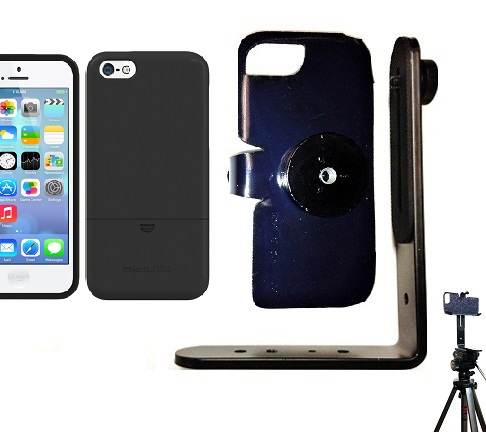 SlipGrip Tripod Mount For Apple iPhone 5C Using Seidio Surface Case