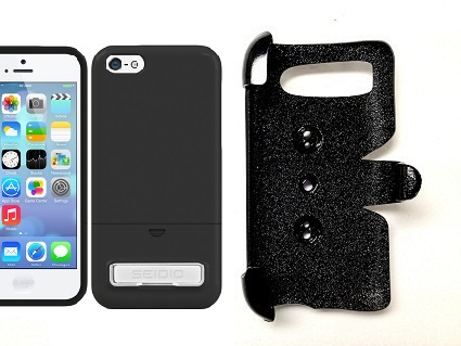 SlipGrip PRO Mounts Holder For Apple iPhone 5C Using Seidio Surface KickStand Case