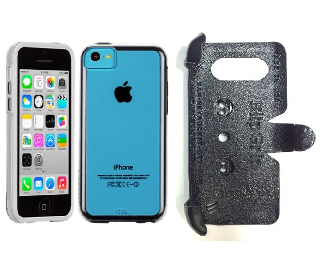 SlipGrip PRO Mounts Holder For Apple iPhone 5C Using Case-Mate Naked Tough Case
