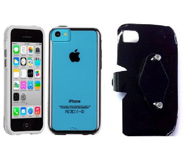 SlipGrip RAM-HOL Holder For Apple iPhone 5C Using Case-Mate Naked Tough Case