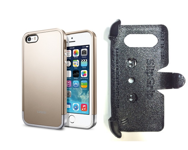 SlipGrip PRO Mounts Holder For Apple iPhone 5 & 5S Using SPIGEN Linear Metal Case