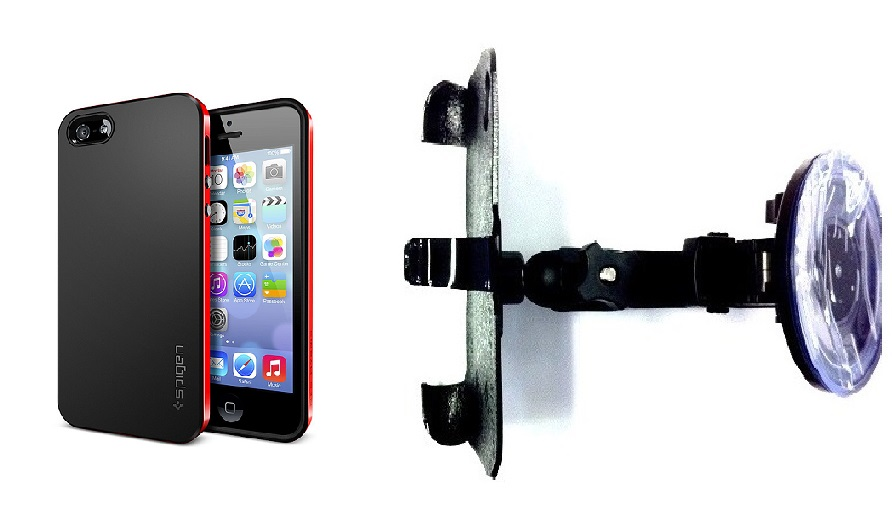 SlipGrip Car Holder For Apple iPhone 5 & 5S Using Spigen Neo Hybrid Case HV