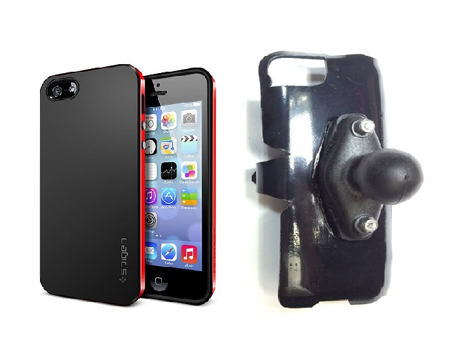 SlipGrip RAM Holder For Apple iPhone 5 & 5S Using SPIGEN Neo Hybrid Case