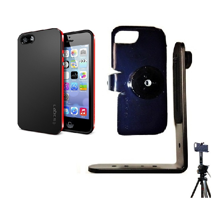 SlipGrip Tripod Mount For Apple iPhone 5 & 5S Using SPIGEN Neo Hybrid Case
