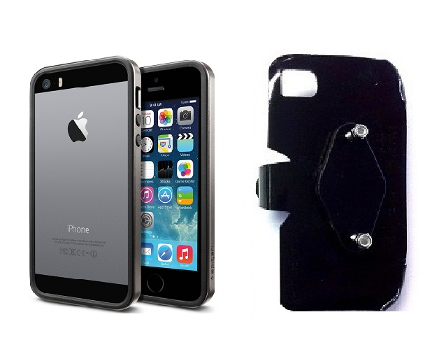 SlipGrip RAM-HOL Holder For Apple iPhone 5 & 5S Using SPIGEN Neo Hybrid Ex Slim Metal Case