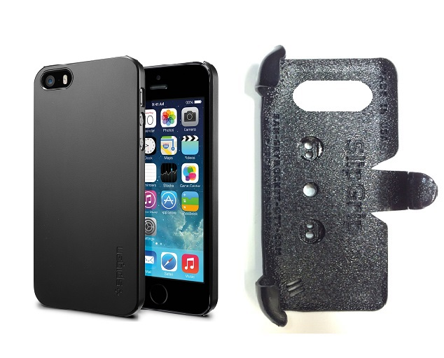 SlipGrip PRO Mounts Holder For Apple iPhone 5 & 5S Using SPIGEN Ultra Thin Air Case