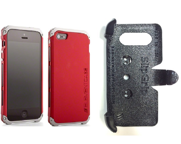 SlipGrip PRO Mounts Holder For Apple iPhone 5 & 5S Using Element Solace Case