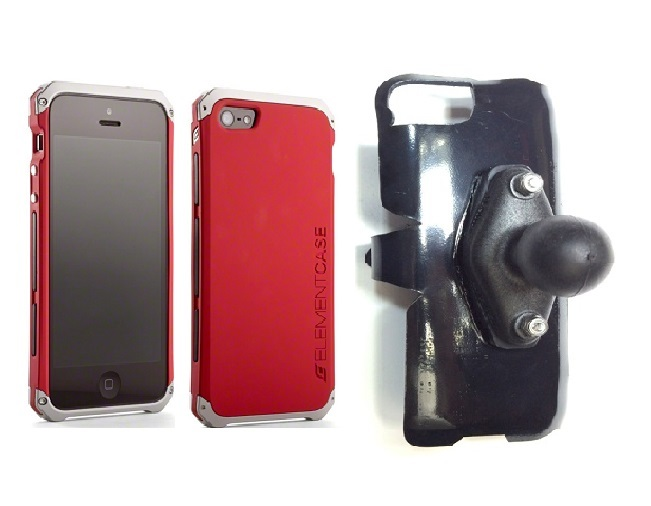 SlipGrip RAM Holder For Apple iPhone 5 & 5S Using Element Solace Case