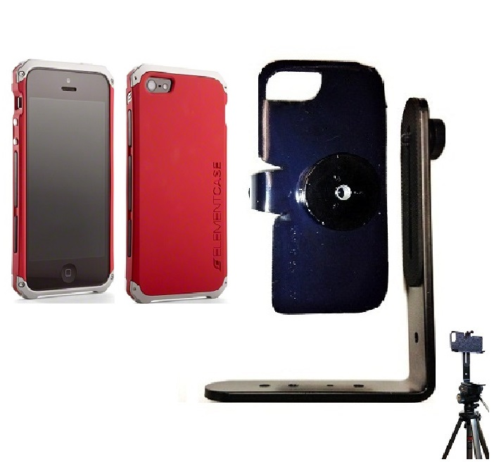 SlipGrip Tripod Mount For Apple iPhone 5 & 5S Using Element Solace Case