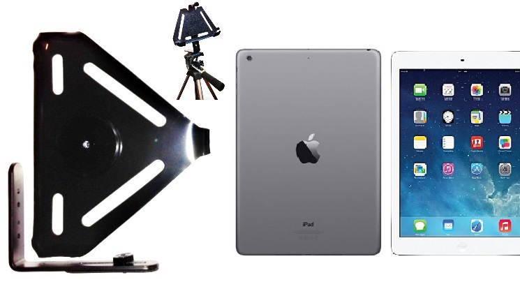 SlipGrip Tripod Mount For Apple iPad Air Tablet Case Using Naked No Case On