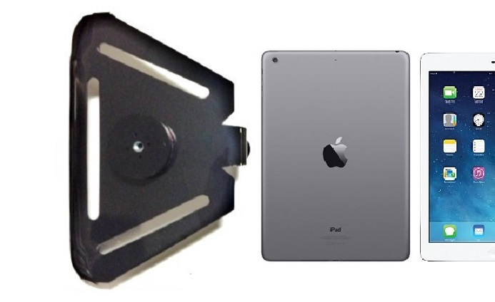 SlipGrip 1/4 inch Screw Bracket For Apple iPad Air Tablet Case Using Naked No Case On